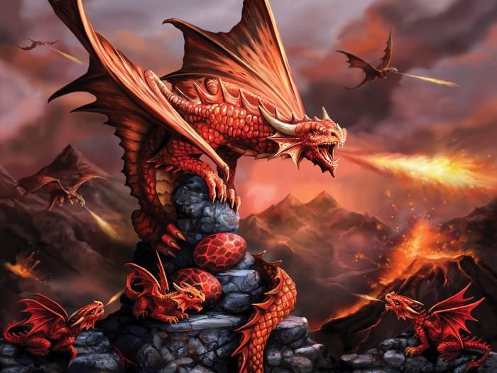 Купить Пазлы, Prime 3D Стерео пазл Огненный дракон