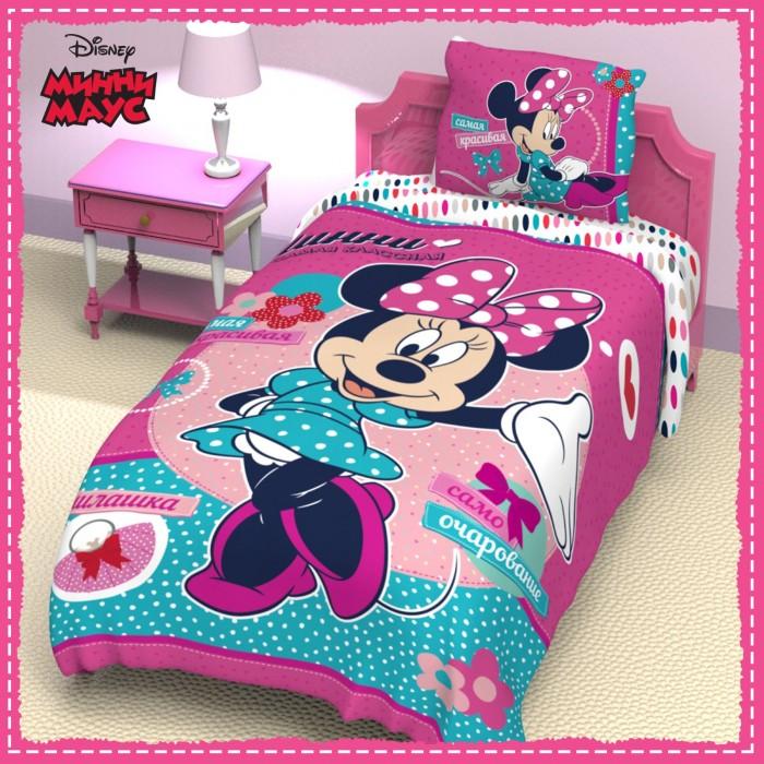 Постельное белье 1.5-спальное Disney Минни Маус 1.5-спальное (3 предмета) постельное белье 1 5 спальное disney микки маус и его друзья микки и минни 1 5 спальное 3 предмета