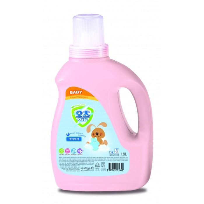 Детские моющие средства Oats Кондиционер для стирки детского белья Baby Fabric Softener 2 л
