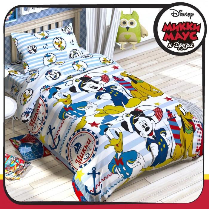Купить Постельное белье 1.5-спальное, Постельное белье Disney Микки Маус и его друзья: Приключения ждут 1.5-спальное (3 предмета)