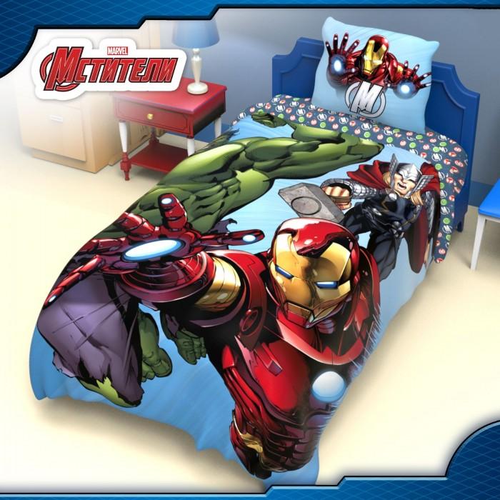 Постельное белье Марвел (Marvel) Команда Мстители 1.5-спальное (3 предмета)