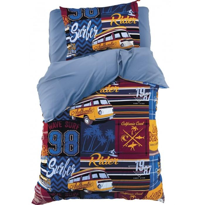 Купить Постельное белье 1.5-спальное, Постельное белье Этель Сёрфер 1.5-спальное (3 предмета)