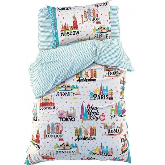 Купить Постельное белье 1.5-спальное, Постельное белье Этель Города 1.5-спальное (3 предмета)