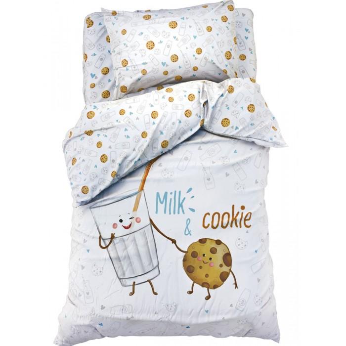 Постельное белье 1.5-спальное, Постельное белье Этель Milk & Cookie 1.5-спальное (3 предмета)  - купить со скидкой