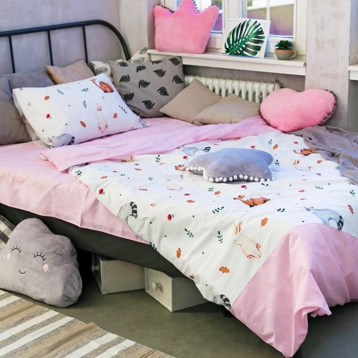 Купить Постельное белье 1.5-спальное, Постельное белье Этель Акварель 1.5-спальное (3 предмета)