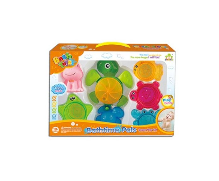 Игрушки для ванны Наша Игрушка Набор для купания Черепашка (6 предметов)