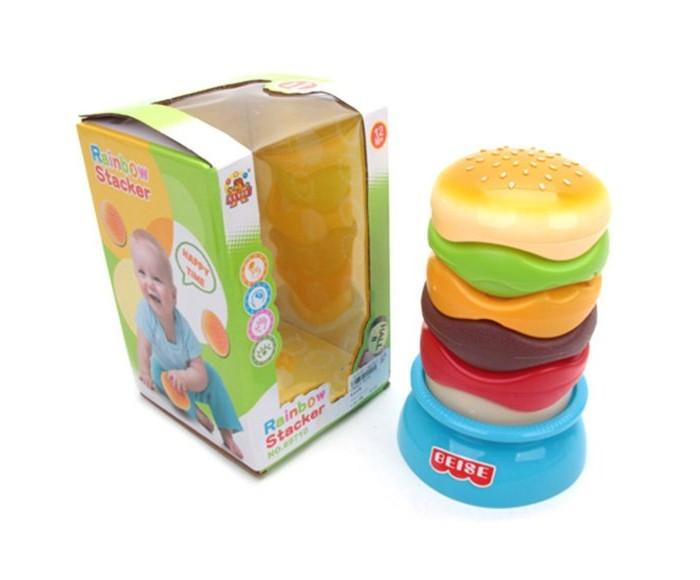 Купить Развивающие игрушки, Развивающая игрушка Наша Игрушка Пирамидка Гамбургер 21 см