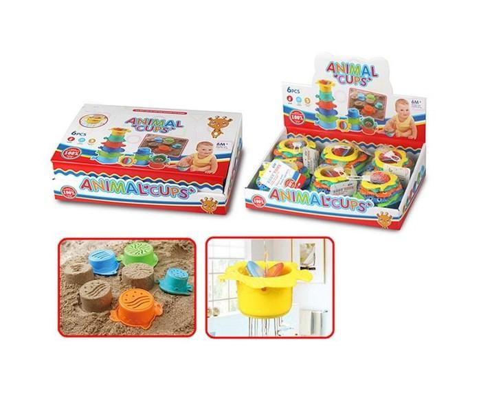 Фото - Игрушки для ванны Наша Игрушка Набор формочек-леек для купания 6 шт. коврики для купания munchkin набор для ванной 6 шт набор для ванной playgo киты