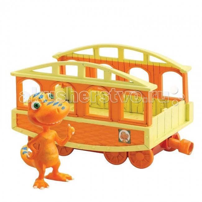 Игровые наборы Tomy Набор Поезд Динозавров Бадди с вагончиком игровые фигурки tomy набор фигурок поезд динозавров старый спинозавр и x ray орен