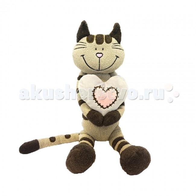 Мягкие игрушки Maxitoys Luxury Кот Полосатик с сердцем 33 см мягкие игрушки maxitoys собачка наденька с сердцем