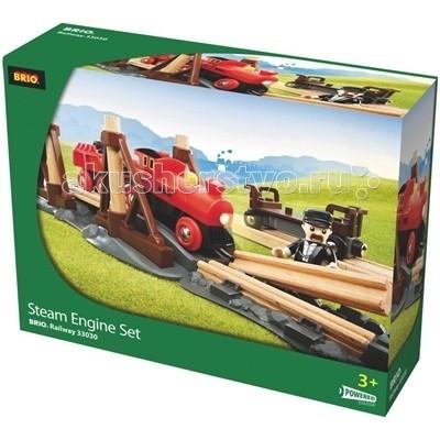 Brio Набор с паровозом на батарейках и строящимся мостом