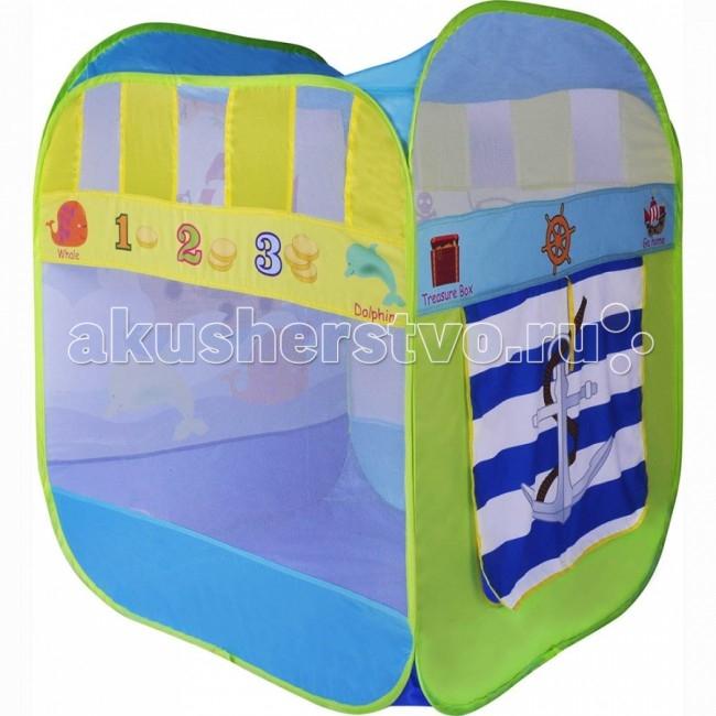 BabyOne Игровая палатка Приключения Зверей + 100 шаровИгровая палатка Приключения Зверей + 100 шаровИгровая палатка BabyOne, квадратной формы, обязательно понравится малышу, ведь они так любят укрытия. Домик сделан из нейлона и имеет закрывающуюся дверцу.  Характеристика: материал: нейлон размер: 80х80х100 см вес: 1.5 кг в комплекте 100 разноцветных шаров<br>