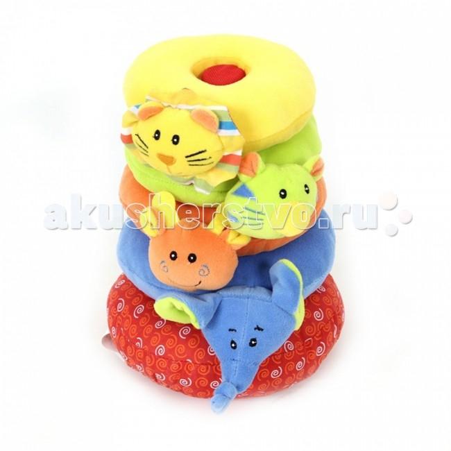 Развивающие игрушки I-Baby пирамидка Друзья из джунглей игрушка пирамидка мишка топтыжка