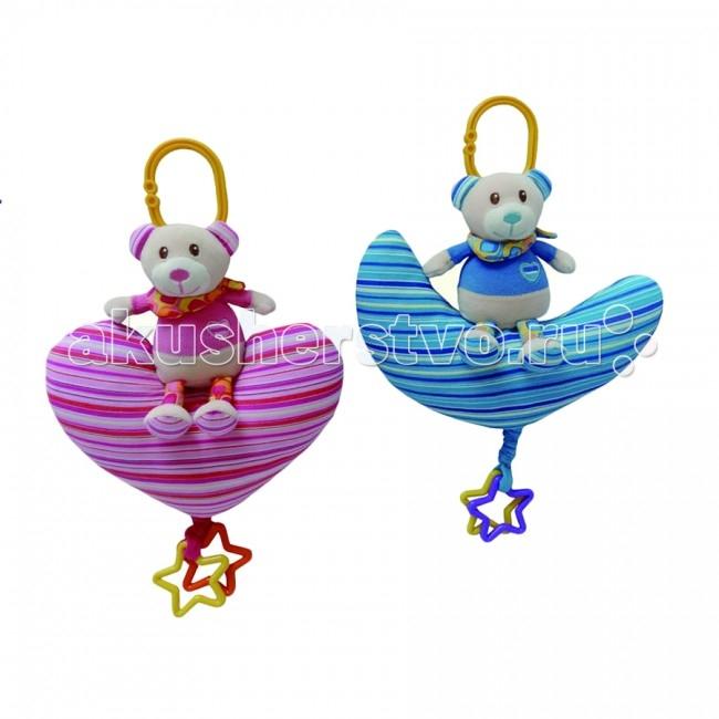 Подвесные игрушки I-Baby Мишка на сердечке мобили amico развивающая игрушка подвеска мишка