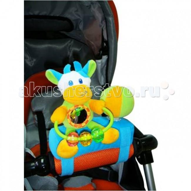 Подвесные игрушки I-Baby на коляску Коровка прорезыватели стеллар с погремушкой букетик