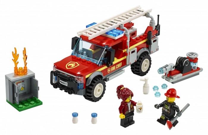 Конструктор Lego City Town Грузовик начальника пожарной охраны