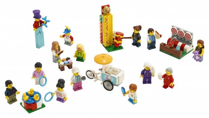 Конструктор Lego City Town Комплект минифигурок Весёлая ярмарка