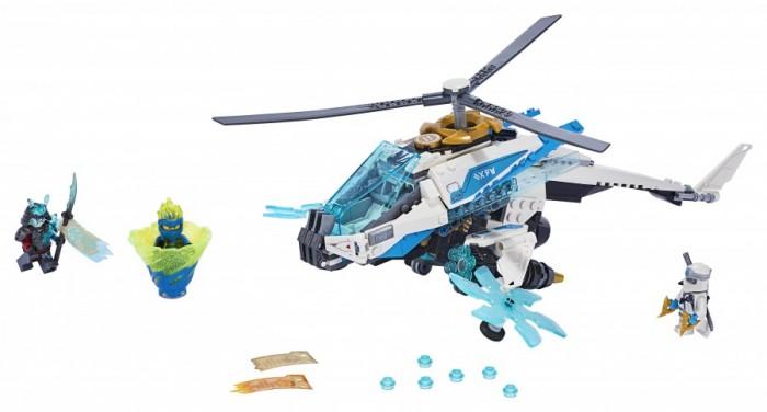 Конструктор Lego Ninjago ШурилётLego<br>Lego Ninjago Шурилёт  Лети вперёд на удивительном Шурилёте Зейна, чтобы сразиться с генералом Вексом в морозном Никогда-королевстве!   Заставь винты вращаться и открой огонь из скорострельных шутеров. Запусти атаку Кружитцу, используя торнадо-спиннер ниндзя-воина Джея   В сражении с генералом Вексом тебе помогут катана и сюрикены Зейна. Для Зейна и Джея в боевых доспехах приключения в мире Ninjago никогда не заканчиваются... присоединяйся к ним с этим замечательным набором Lego!   Сможешь ли ты отобрать Свиток запретного Кружитцу у грозного генерала и помешать ему стать ещё сильнее?