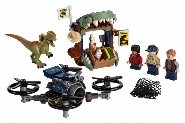 Купить Конструктор Lego Jurassic World Побег дилофозавра