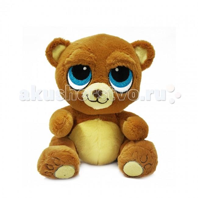 Мягкие игрушки Maxitoys Медведь Глазастик 22 см мягкие игрушки maxitoys котенок лапушка бежевый озвученный 22 см mp hh r8997e