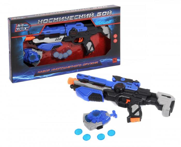 Игрушечное оружие BeBoy Набор Космический бой (бластер, аксессуары) игрушечное оружие beboy космический бой бластер меч аксессуары