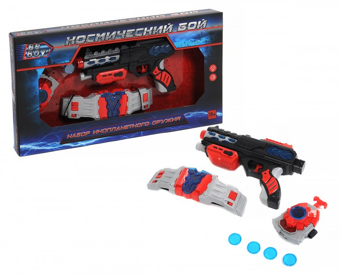Игрушечное оружие BeBoy Космический бой (бластер, аксессуары) IT104222 игрушечное оружие beboy космический бой бластер меч аксессуары