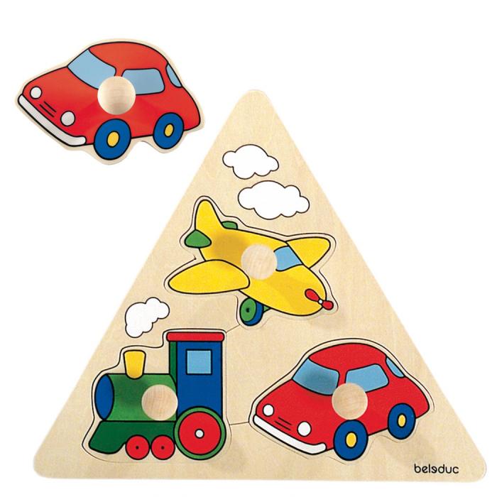 Деревянные игрушки Beleduc Развивающий Пазл Транспорт 10122