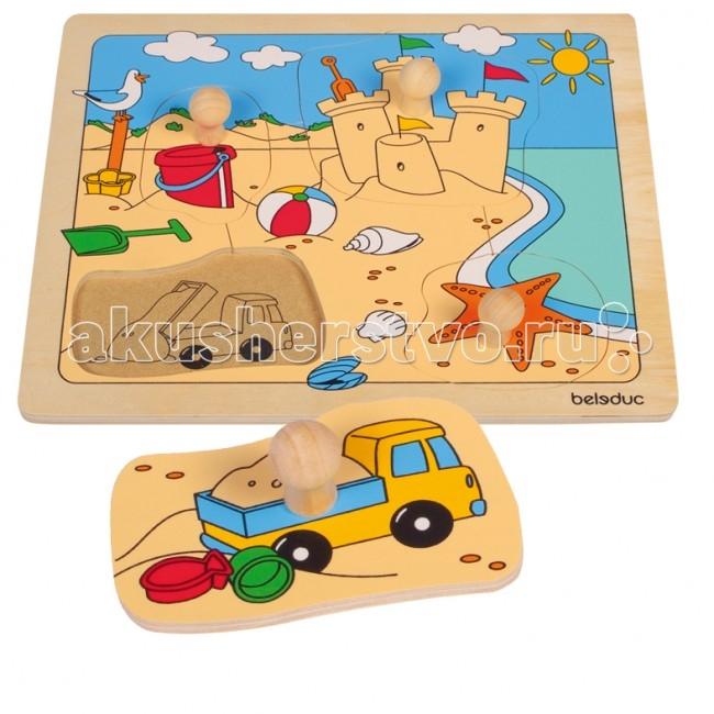 Деревянные игрушки Beleduc Развивающий Пазл Пляж 10148 beleduc развивающий пазл пляж 10148
