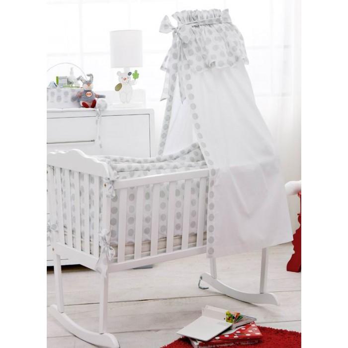 Балдахин для кроватки HPA Play With GreyPlay With GreyКрасивый и современный балдахин из коллекции HPA PLAY WITH GREY в крупный серый горох придаст детской комнате уникальный стиль. Балдахин рекомендуется объединить с другими элементами из этой же коллекции.  Основные характеристики балдахина HPA:  - пригодна для кроватей-диванов, кроватей-качалок, - легко стирается в машинке, - декор — 100%-й хлопок, - ткань балдахина — 100%-й полиэстер.  Держатель для балдахина подбирается отдельно.  Размеры (см): 200х35.<br>