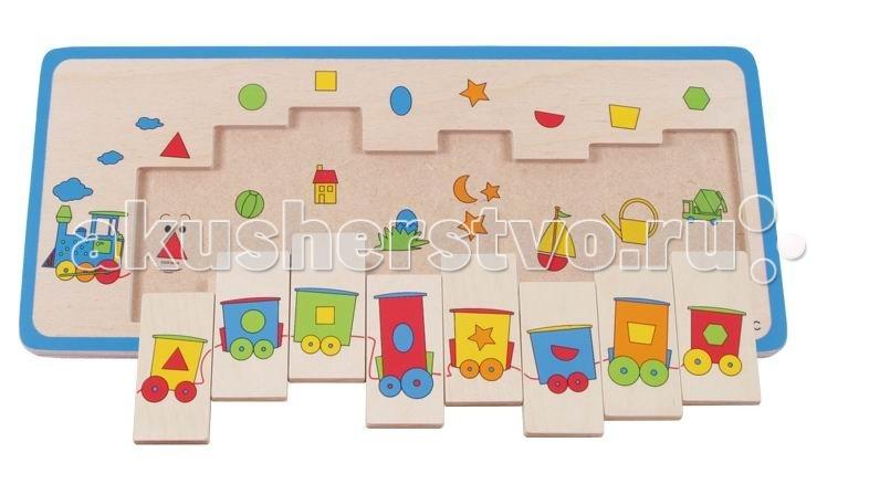 Деревянные игрушки Beleduc Развивающий Пазл Паровозик 11009 деревянные игрушки beleduc развивающий пазл клубника 17040