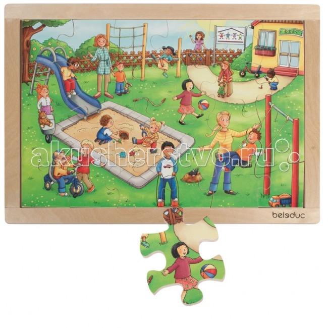 Деревянная игрушка Beleduc Развивающий Пазл Детский сад 12001Развивающий Пазл Детский сад 12001Развивающий Пазл Детский сад Beleduc 12001  Красочный пазл в деревянной рамке с хорошо знакомыми ситуациями из повседневной жизни детей в детском саду.   Пазл развивает мышление, логику, моторику, цвета, воображение, когнитивные и коммуникативные навыки.  Пазлы Beleduc, изготовленные из русской березы, всегда особенные, они объединяют не только гениальные идеи с эксклюзивными иллюстрациями, но и креативность и качество. Все пазлы рассчитаны на разные возрастные категории, уровни сложности. Но все они очень красочные, увлекательные и главное познавательные.<br>