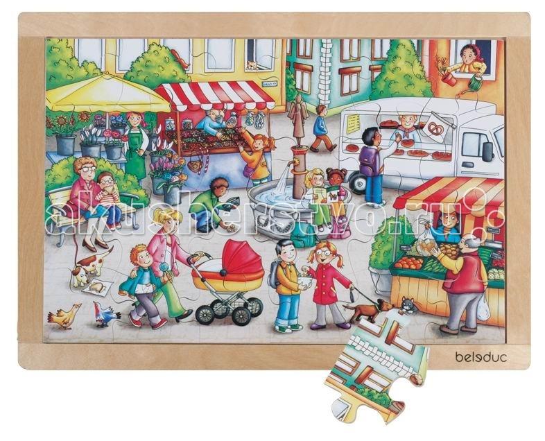 Деревянная игрушка Beleduc Развивающий Пазл Рынок 12002Развивающий Пазл Рынок 12002Развивающий Пазл Рынок Beleduc 12002  Красочный пазл в деревянной рамке с хорошо знакомыми ситуациями из повседневной жизни детей.   Пазл развивает мышление, логику, моторику, цвета, воображение, когнитивные и коммуникативные навыки.  Пазлы Beleduc, изготовленные из русской березы, всегда особенные, они объединяют не только гениальные идеи с эксклюзивными иллюстрациями, но и креативность и качество. Все пазлы рассчитаны на разные возрастные категории, уровни сложности. Но все они очень красочные, увлекательные и главное познавательные.<br>