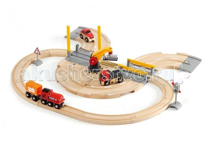 Железные дороги Brio Ж/д переезд 26 элементов железные дороги brio тормозной вагон поезда brio