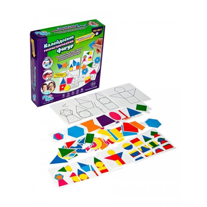 Развивающие игрушки Pic`n Mix Пазл-липучка Калейдоскоп геометрических фигур pic n mix обучающая игра пазл липучка веселая ферма