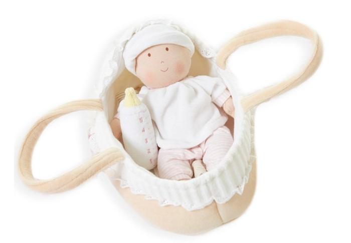 Купить Куклы и одежда для кукол, Bonikka Текстильный набор: кукла Grace Baby Carry 23 см, бутылочка, люлька