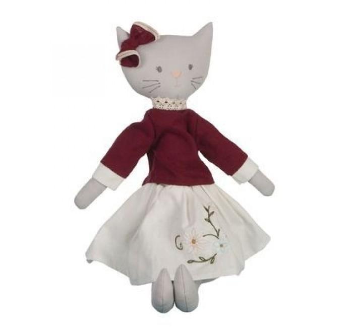 Мягкая игрушка Bonikka Мягконабивная кукла кошка Bellamy 50 см
