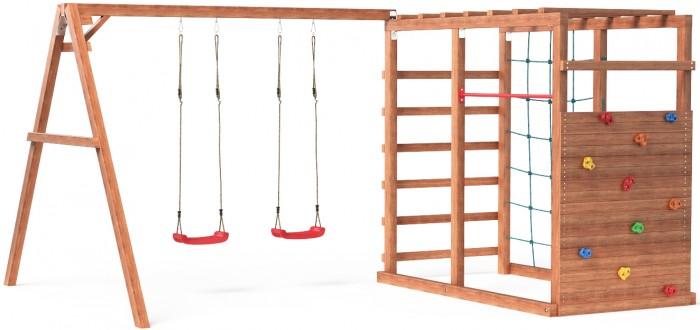 Купить Игровые комплексы, Можга (Красная Звезда) Детский игровой комплекс Р929 с качелями