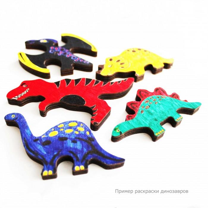 Купить Деревянные игрушки, Деревянная игрушка Стеша Набор для раскраски Дино с фломастерами