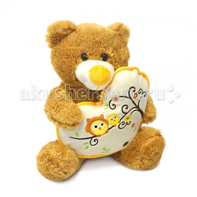 Мягкие игрушки Maxitoys Мишка Берни с сердцем 30 см maxitoys подушка с ручками