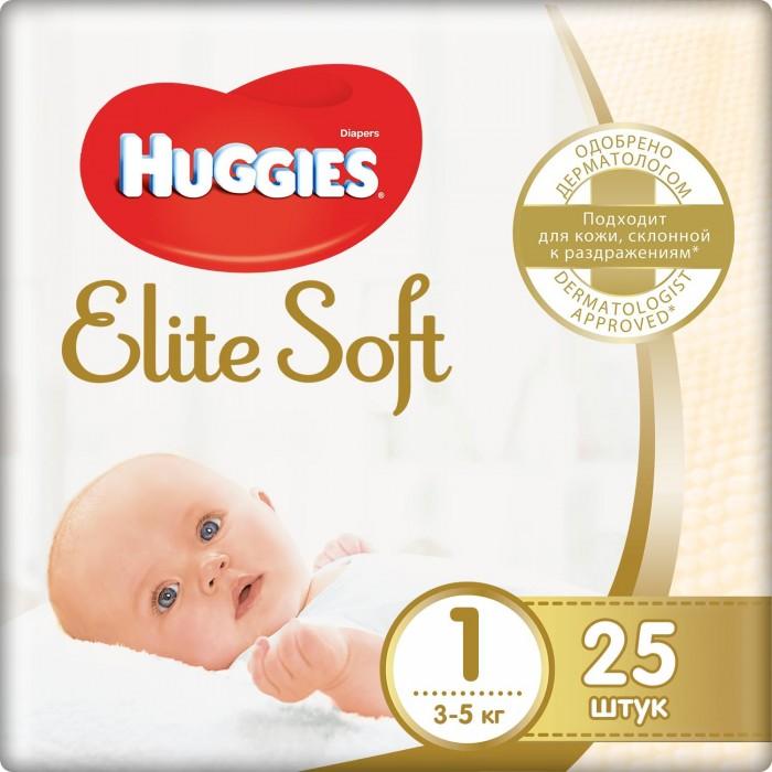 Huggies Подгузники Элит Софт 1 (3-5 кг) 25 шт.