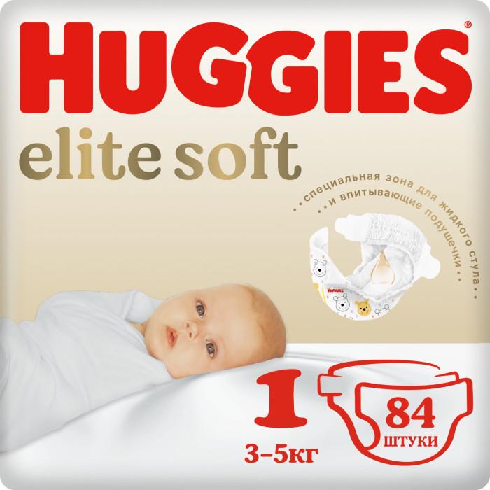 Huggies Подгузники Элит Софт 1 (3-5 кг) 84 шт.