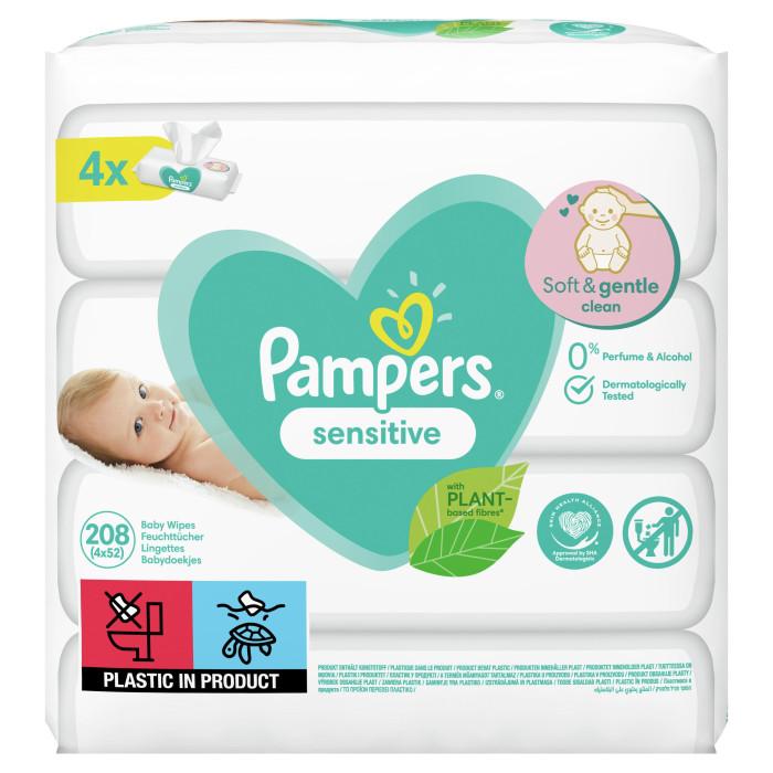 Салфетки Pampers Детские влажные салфетки Sensitive 208 шт.