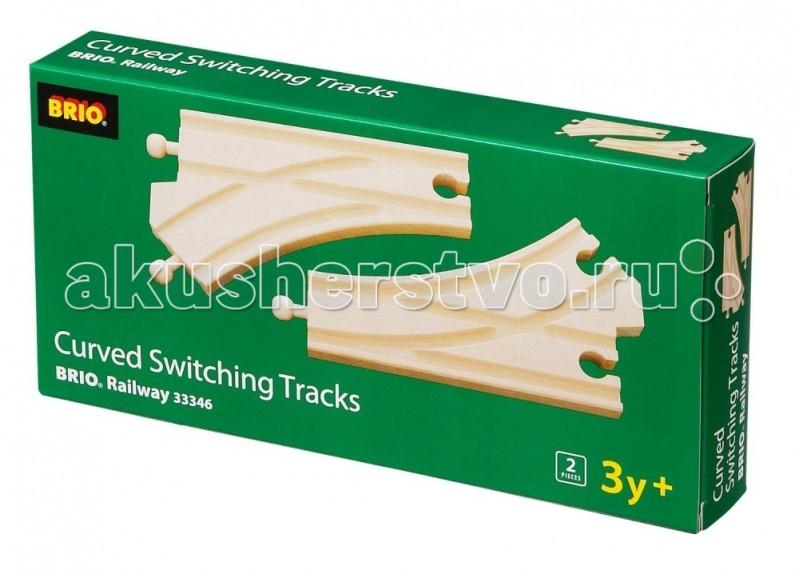 Железные дороги Brio Ж/д полотно раздваивающееся длина 14,4см железные дороги brio brio ж д полотно прямое длина 21 6см 4 дет в наб