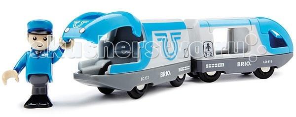 Железные дороги Brio Поезд-экспресс с машинистом 2 элемента