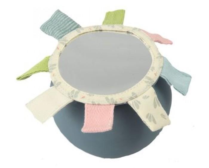 Развивающая игрушка Meiya & Alvin Мяч из натурального каучука с зеркалом Слоник Alvin 8 см фото