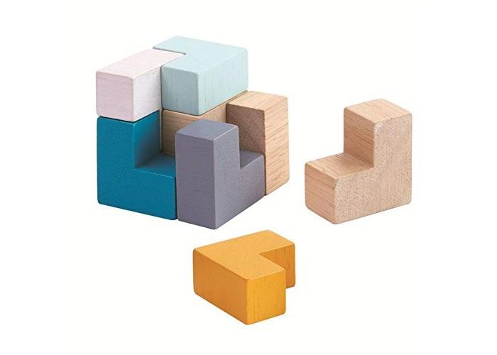 Деревянные игрушки Plan Toys 3D пазл - Куб