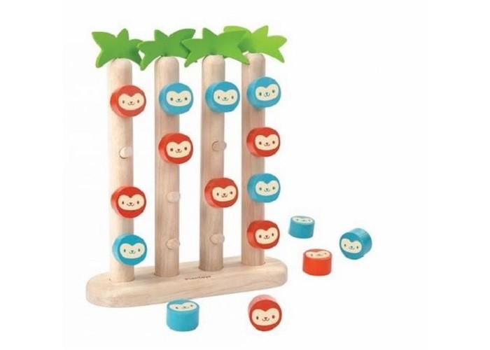 Деревянная игрушка Plan Toys Четыре обезьянки в ряд фото