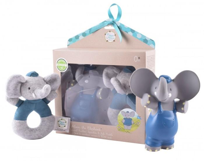 Мягкая игрушка Meiya & Alvin Подарочный набор Слоник Alvin пищалка и мягкая игрушка фото