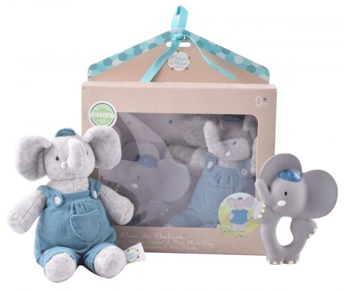 Мягкая игрушка Meiya & Alvin Подарочный набор Слоник Alvin прорезыватель и мягкая игрушка фото