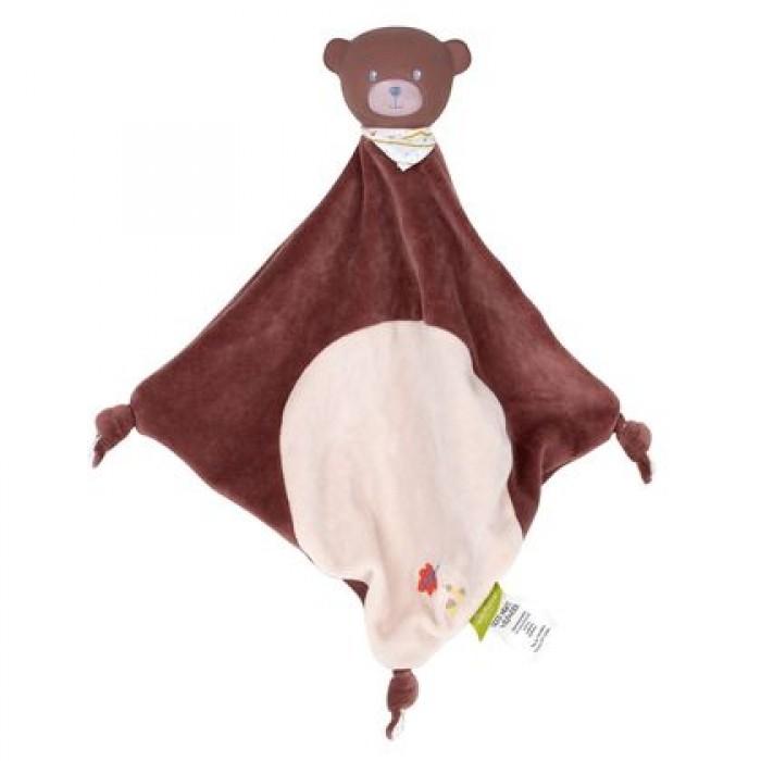 Комфортеры Wildwood Игрушка-платочек и прорезыватель Медведь 32 см